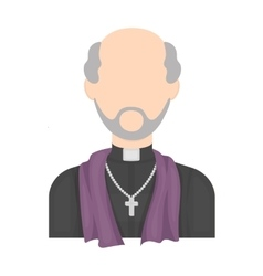 Priest icon in cartoon style isolated on white vector image