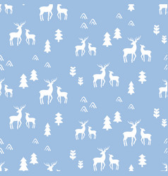 scandinavian deers seamless pattern vector image