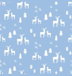 Scandinavian deers seamless pattern vector