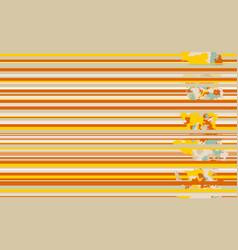 seamless horizontal lines pattern orange vector image