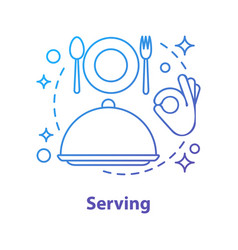 Serving concept icon vector