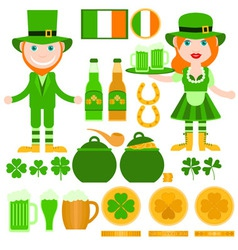 Set of saint patricks day related elements vector