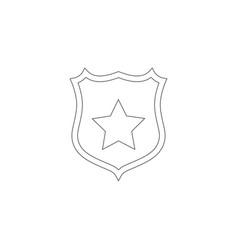Shield star flat icon vector