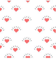 sign mini heart seamless pattern vector image