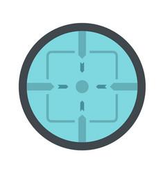 sniper elite aim icon flat style vector image