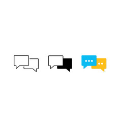 Speech bubble icon set flat chat communicate or vector