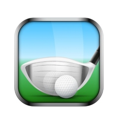 Square icon for golf app or games vector