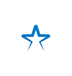 star logo and icon design template vector image