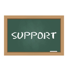 Support chalkboard vector image