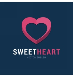 Sweet Heart emblem with 3d effect vector