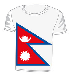 t-shirt flag nepal vector image