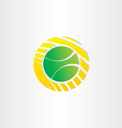 Tennis ball symbol design vector