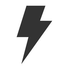 thunder icon on white background flat style vector image