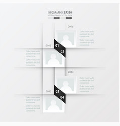 Timeline design black and white color vector