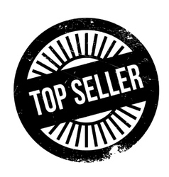 Top seller stamp vector image