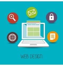 web design online media icon vector image
