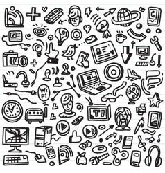 web doodles vector image