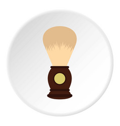 Wooden shaving brush icon circle vector