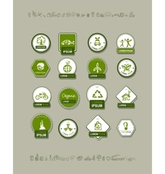 Ecology labels set for your design vector image