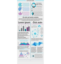 Elements of infographic vector image