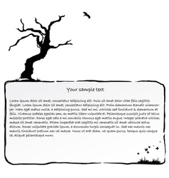 Ink frame with dead tree vector