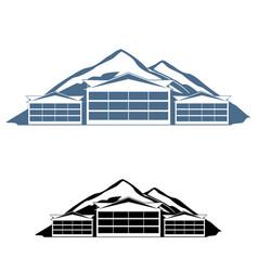 mountain resort logo vector image