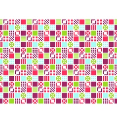 Seamless Bright Abstract Square Ornament Pattern vector image vector image