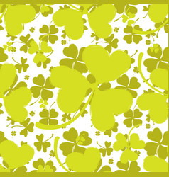 spring pattern with green clover vector image