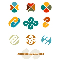 symbols with arrows vector image vector image