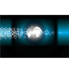 technology background vector image