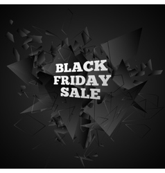 Black friday sale abstract black explosion vector