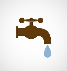 Logo tap with a drop of water vector image vector image