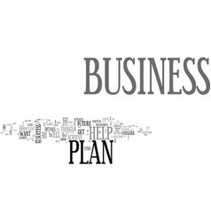 why a business plan is so important for your vector image vector image