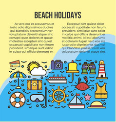 beach summer holidays or sea cruise travel vector image vector image