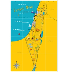 Israel map vector