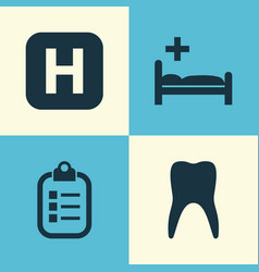 medicine icons set collection of hospital mark vector image vector image
