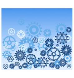 technical gears background vector image vector image