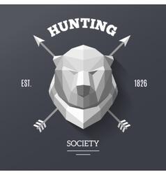 bear hunting society vector image