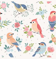 bird pastel pattern vector image vector image
