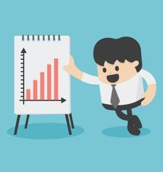 Businessman presenting growth chart vector