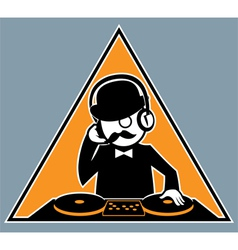 Hipster DJ vector image