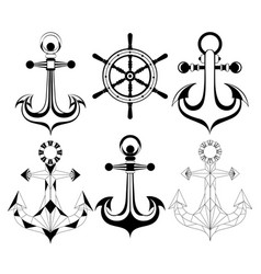 Silhouette anchors vector