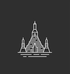 thailand landmark in outline style vector image