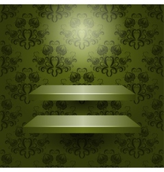 two empty shelves isolated vector image