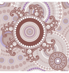 Vintage seamless paisley abstract texture vector image