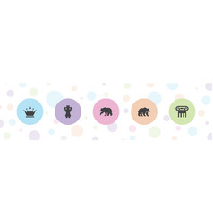 5 ornate icons vector image