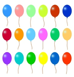 A lot of colorful balloons vector image