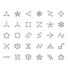 Abstract geometrical flat icons set circles vector