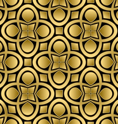 Abstract golden seamless pattern vector