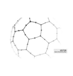 abstract soccer ball wireframe background vector image